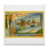 Oregon OR Tile Coaster
