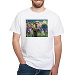 St. Fran. / Brittany White T-Shirt