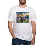 St Francis / Bullmastiff Fitted T-Shirt
