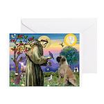 St Francis / Bullmastiff Greeting Card