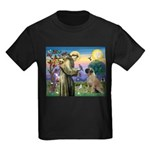 St Francis / Bullmastiff Kids Dark T-Shirt