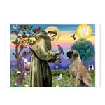 St Francis / Bullmastiff Postcards (Package of 8)