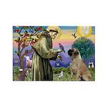 St Francis / Bullmastiff Rectangle Magnet