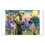 St Francis / Bullmastiff Rectangle Sticker