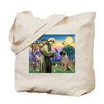St Francis / Bullmastiff Tote Bag