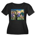 St Francis / Bullmastiff Women's Plus Size Scoop N