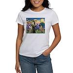 St Francis / Bullmastiff Women's T-Shirt