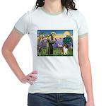 St. Francis & Collie Jr. Ringer T-Shirt