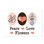 Peace Love Flowers Postcards (Package of 8)