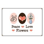 Peace Love Flowers Banner