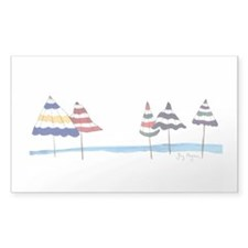 Beach Umbrellas Rectangle Decal