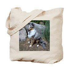 Rock Garden Sheltie Tote Bag