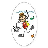 I Scuba Dive Oval Decal