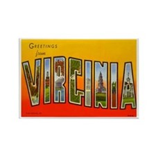 Virginia VA Rectangle Magnet