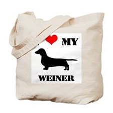 Unique I heart my dachshund Tote Bag