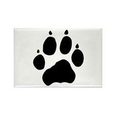 Wolf Paw Rectangle Magnet