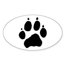 Wolf Paw Oval Sticker (10 pk)
