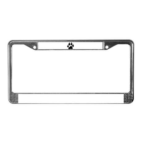 Wolf Paw License Plate Frame