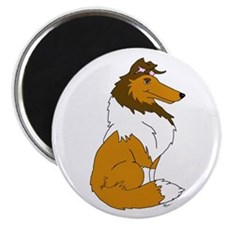 "Sable Rough Collie 2.25"" Magnet (10 pack)"