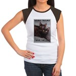 Double Trouble Women's Cap Sleeve T-Shirt