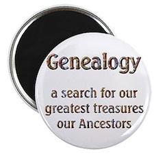 Genealogy Treasures Magnet