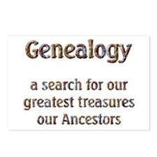 Genealogy Treasures Postcards (Package of 8)