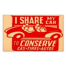 World War II Ride Sharing Rectangle Decal