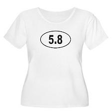 5.8 Womens Plus-Size Scoop Neck T