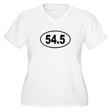 54.5 Womes Plus-Size V-Neck T-Shirt