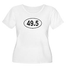 49.5 Womens Plus-Size Scoop Neck T