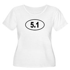 5.1 Womens Plus-Size Scoop Neck T