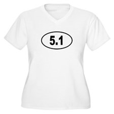 5.1 Womes Plus-Size V-Neck T-Shirt