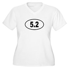 5.2 Womes Plus-Size V-Neck T-Shirt