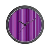 Purple Passion Stripes Wall Clock