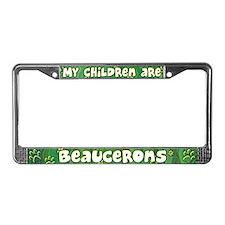My Children Beauceron License Plate Frame