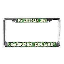 My Children Bearded Collie License Plate Frame