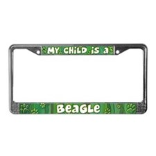 My Kid Beagle License Plate Frame