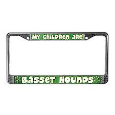 My Children Basset Hound License Plate Frame