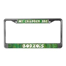 My Children Borzoi License Plate Frame