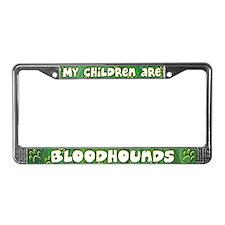 My Children Bloodhound License Plate Frame