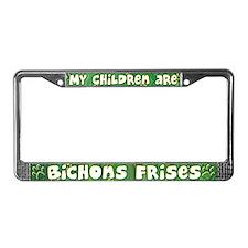 My Children Bichon Frise License Plate Frame