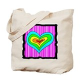 Pink Heart Tote Bag