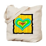 Yellow Heart Tote Bag