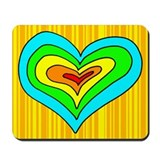 Yellow Heart Mousepad