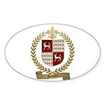 DOUCET Family Crest Oval Sticker