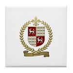 DOUCET Family Crest Tile Coaster