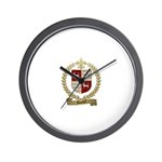 DOUCET Family Crest Wall Clock