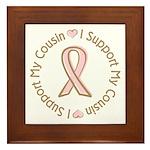 Breast Cancer Support Cousin Framed Tile