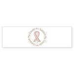 Breast Cancer Support Cousin Sticker (Bumper 10 pk