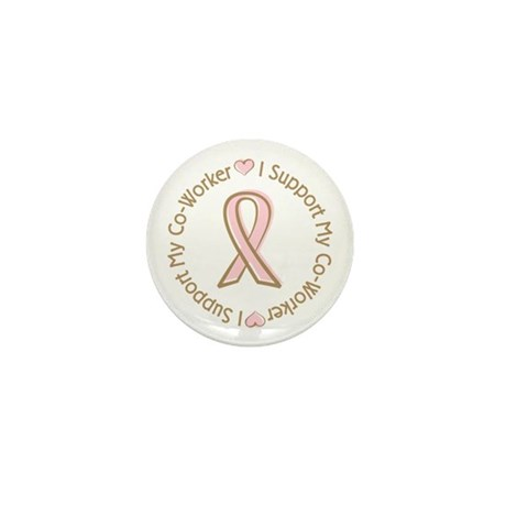 Breast Cancer Support Co-worker Mini Button (100 p